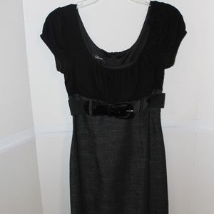 Rockabilly pinup wiggle style gray & black dress